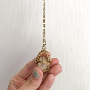 Jewelry - Gold Birdcage Necklace